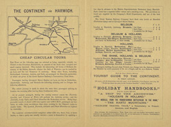 Advert for the Great Eastern Railway, Harwich route, reverse side